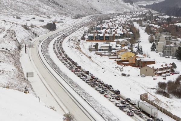 I-70 traffic gridlock